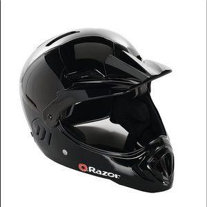 NWT Razor Child Full Face Gloss Black Helmet